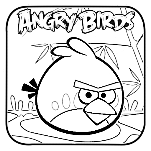 Pink Angry Bird Coloring Pages - Angry Birds Red Coloring Pages - AZ ...