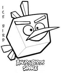 Dibujo para colorear de Angry Birds Space : Ice Bird volando