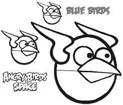 Dibujo para colorear de Angry Birds Space : Los trillizos atacan
