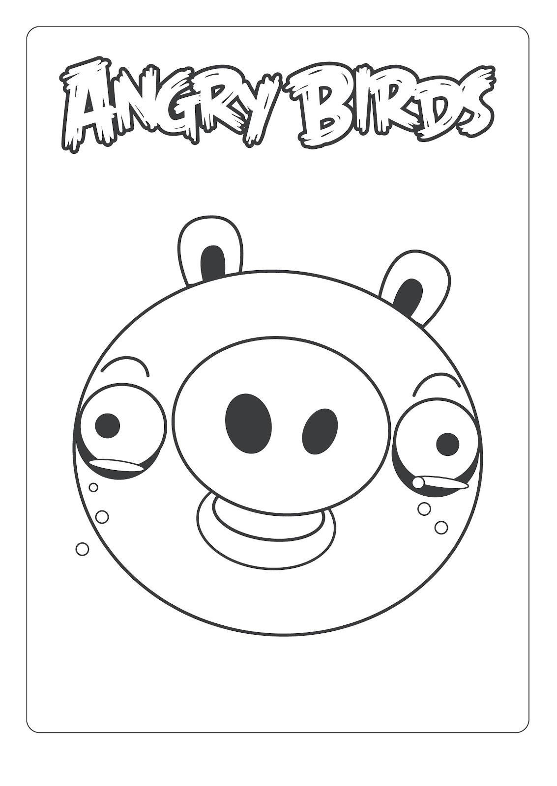 Dibujo para colorear de Bad Piggies: Cerdo Minion llorando