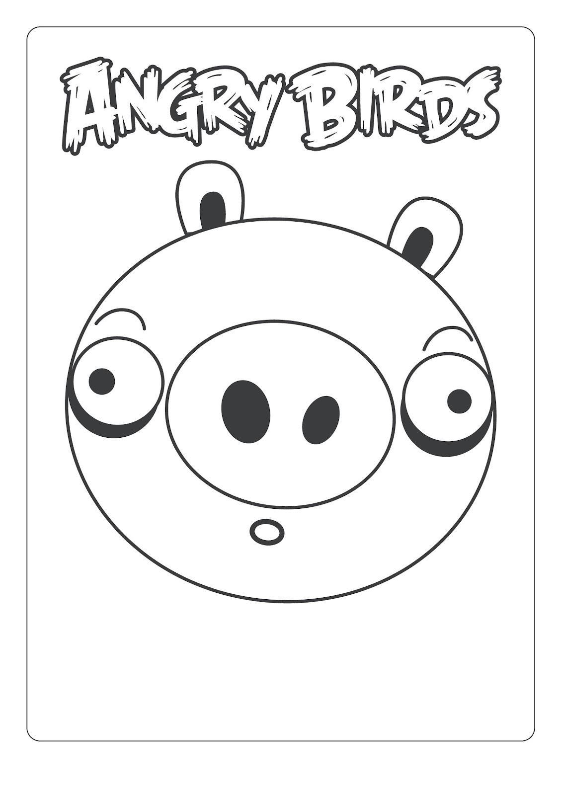 Dibujo para colorear de Bad Piggies: Cerdo Minion sorprendido