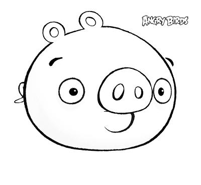 Dibujo para colorear de Bad Piggies: Cerdo iluso