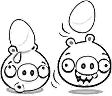 Dibujo para colorear de Bad Piggies: Cerdos Minion cargando huevos