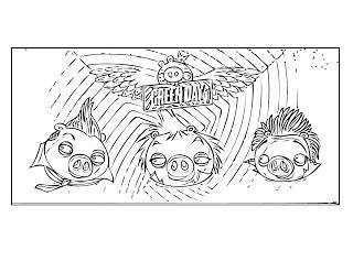 Dibujo para colorear de Bad Piggies: Cerdos disfrazados para Halloween