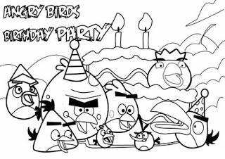 Dibujos Para Colorear De Angry Birds Fiesta De Cumpleaños Juegos