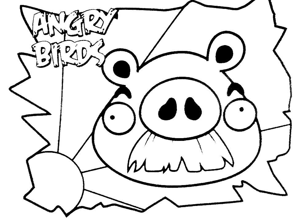 Dibujo para colorear de Bad Piggies: Foreman Pig