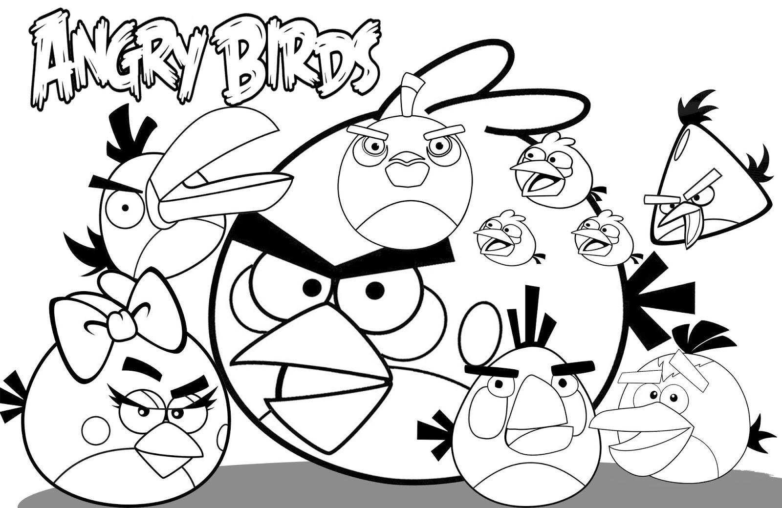 Dibujo Para Colorear De Angry Birds La Familia Reunida Juegos De