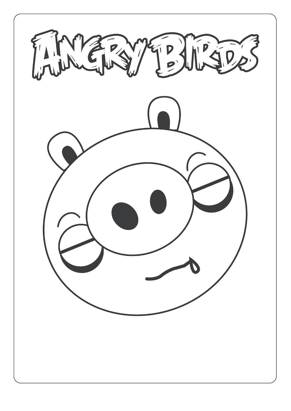 Dibujo para colorear de Bad Piggies: Minion Pig durmiendo