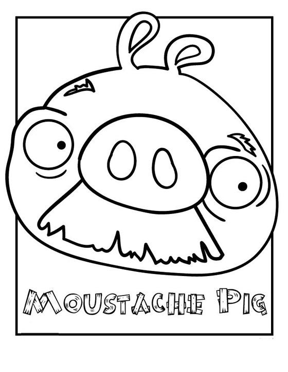 Dibujo para colorear de Bad Piggies: Moustache Pig
