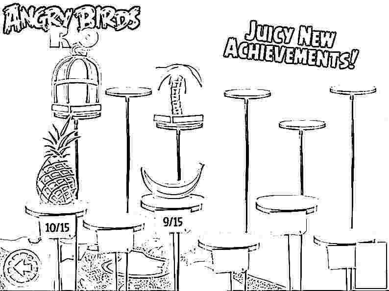 Dibujo para colorear de Angry Birds Rio: Objetos en venta de Rio