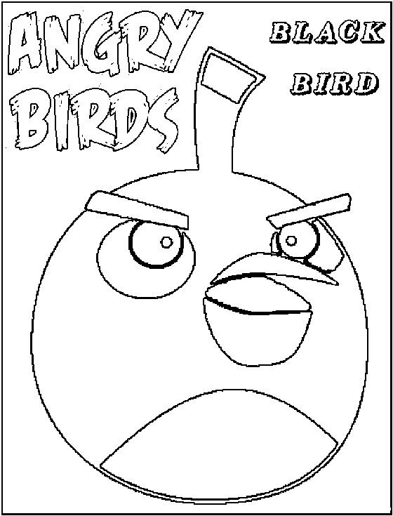 Dibujos para colorear de Angry Birds: Pájaro Negro despistado ...