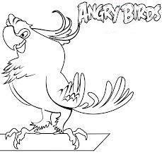 Dibujo para colorear de Angry Birds Rio: Pepillo fanfarroneando