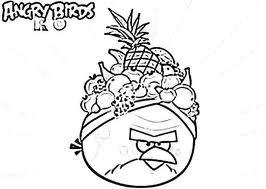 Dibujo para colorear de Angry Birds Rio: Terrence Golden Fruit