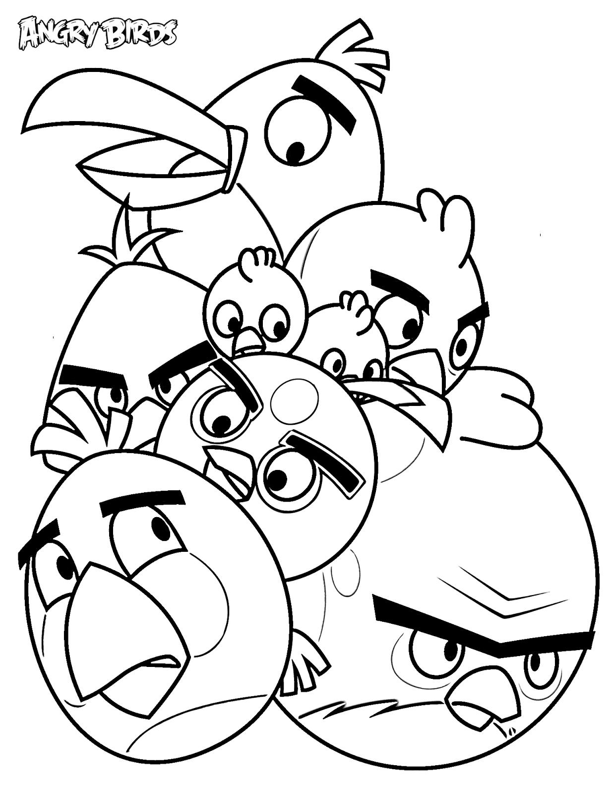 Dibujos Para Colorear De Angry Birds Todos Los Pájaros De Pequeños